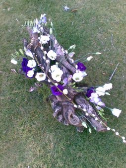woodland funeral flowers of Bournemouth, Dorset :: On The Wild Side Floral Designs